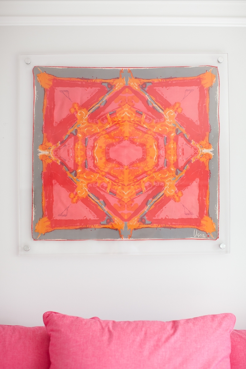 Acrylic Framed Vintage Vera Scarf. (View 14 of 15)