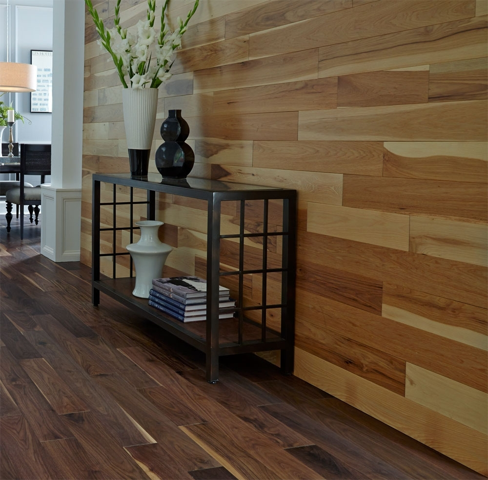 Adding Character With Accent Walls: 2015 Fall Flooring Trends For 2018 Wall Accents With Laminate Flooring (View 2 of 15)
