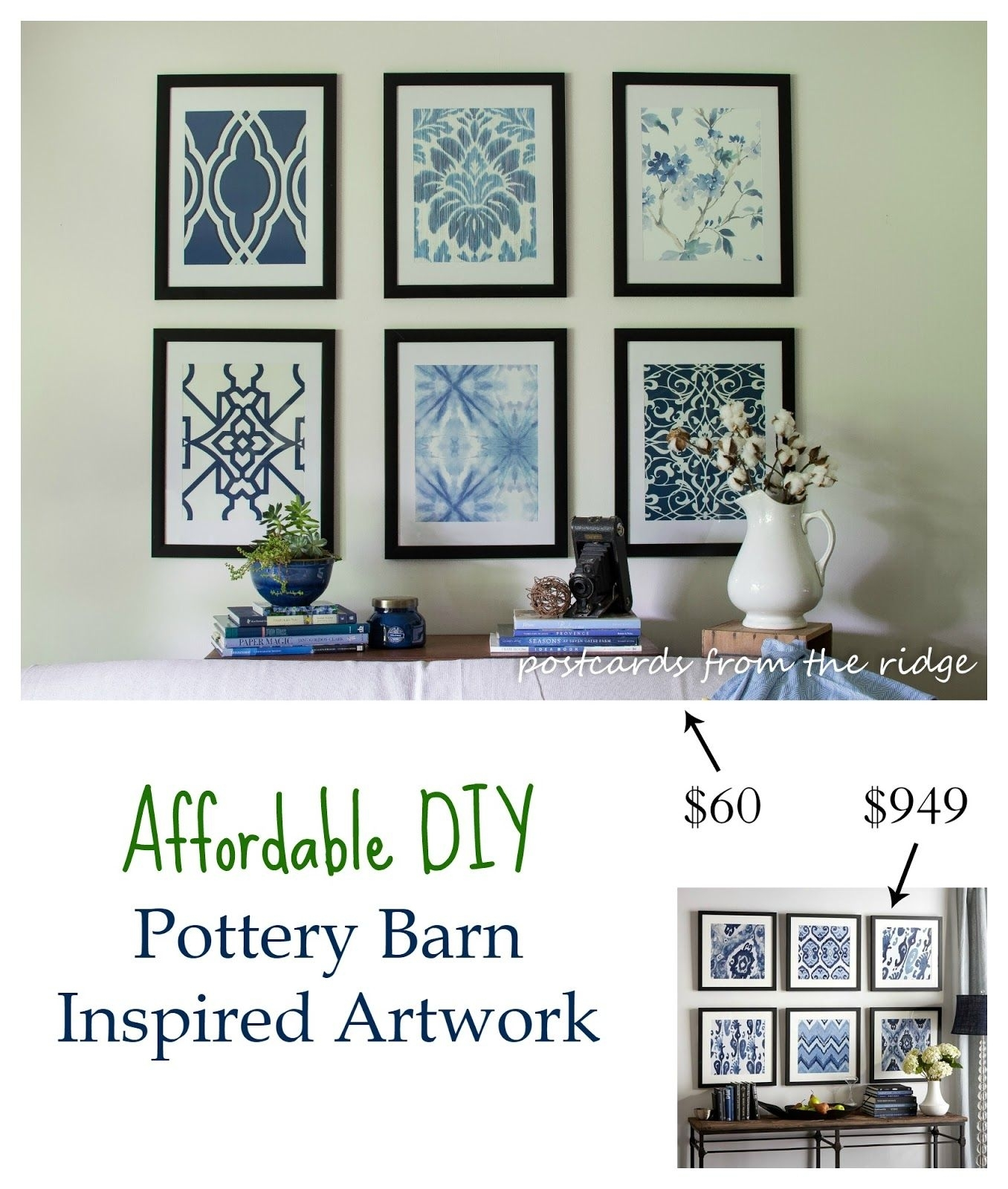 Affordable Diy Artwork Inspiredpottery Barn ~ Rock Your With Latest Affordable Framed Art Prints (View 11 of 15)