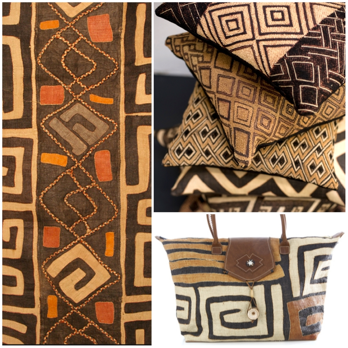 African Kuba Cloth Panel: Diy Art Project With African Stencils Pertaining To Recent African Fabric Wall Art (View 3 of 15)