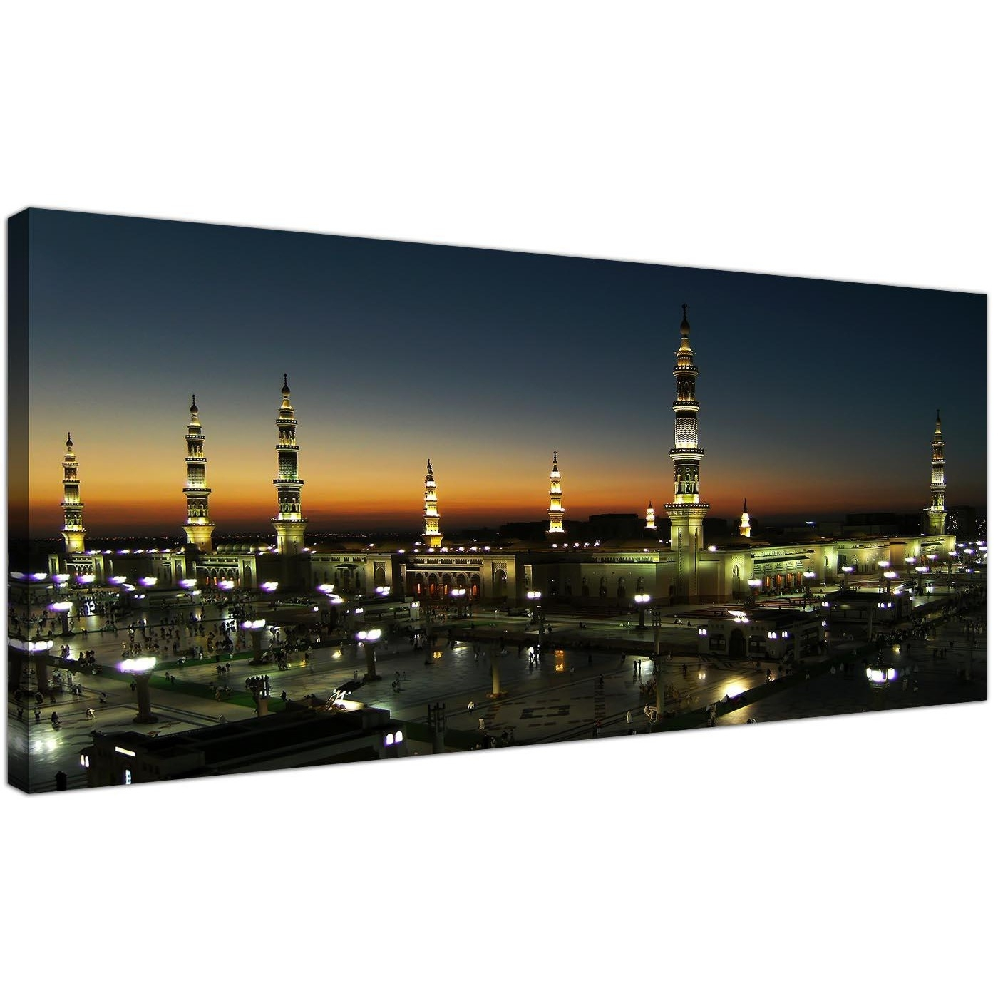 Al Masjid An Nabawi Canvas – Prophets Mosque Medina – Islamic Inside 2018 Islamic Canvas Wall Art (View 9 of 15)