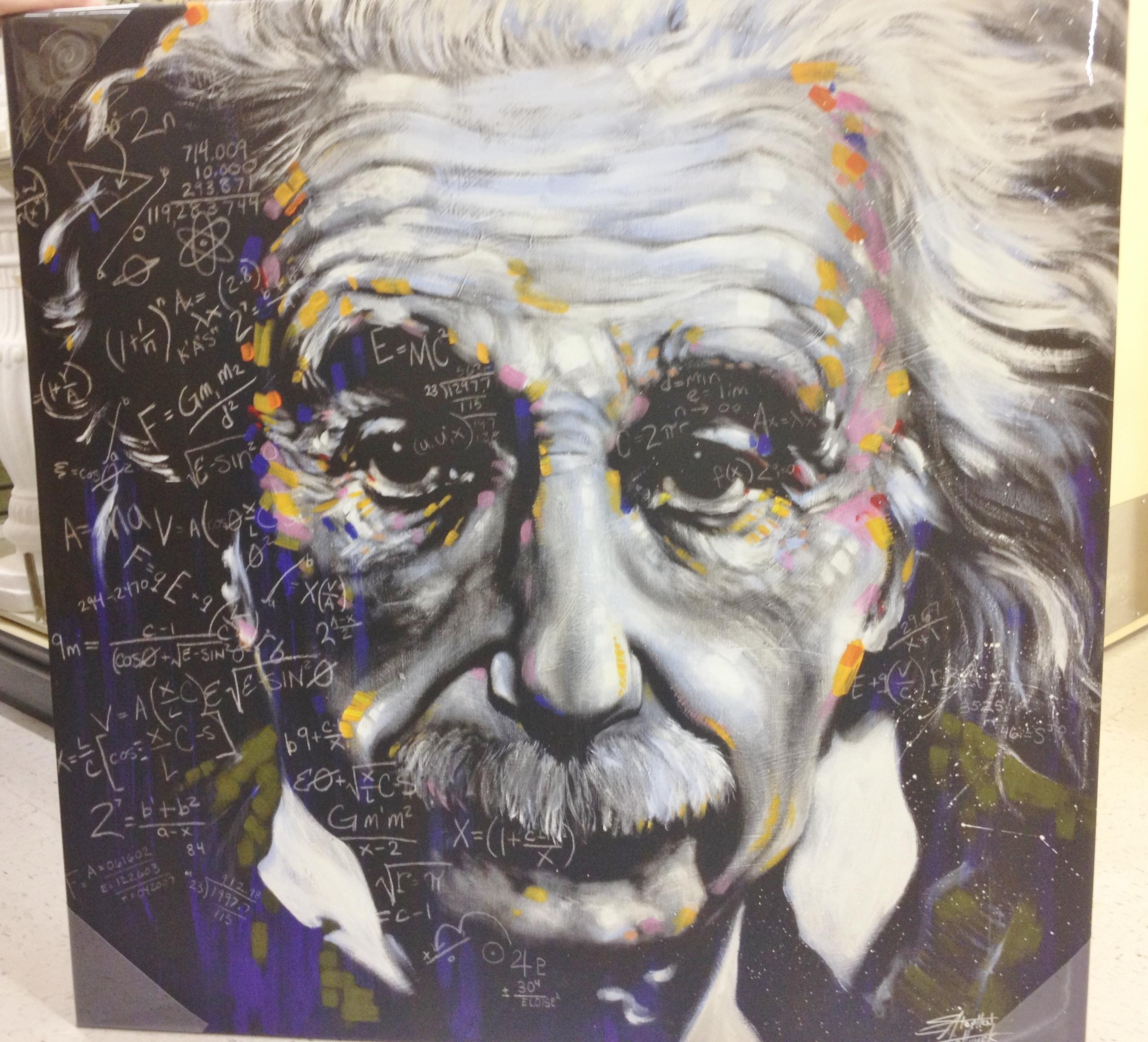 Albert Einstein Canvas Art (View 7 of 15)