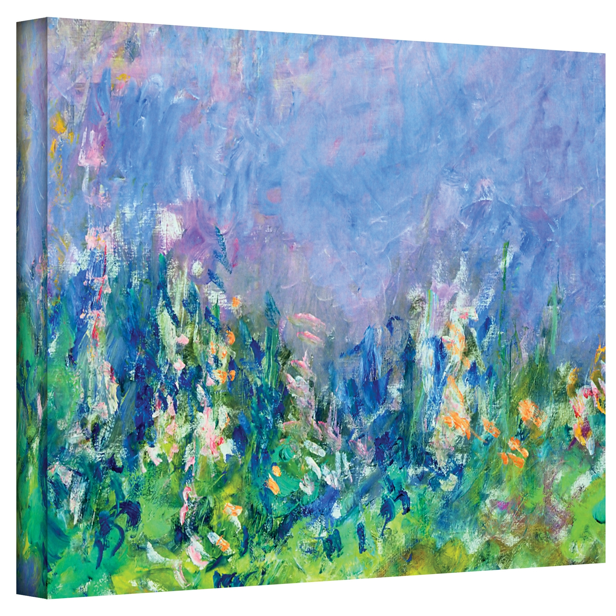 "Alcott Hill ""lavender Fields""claude Monet Painting Print On In Most Up To Date Canvas Wall Art At Wayfair (View 2 of 15)"