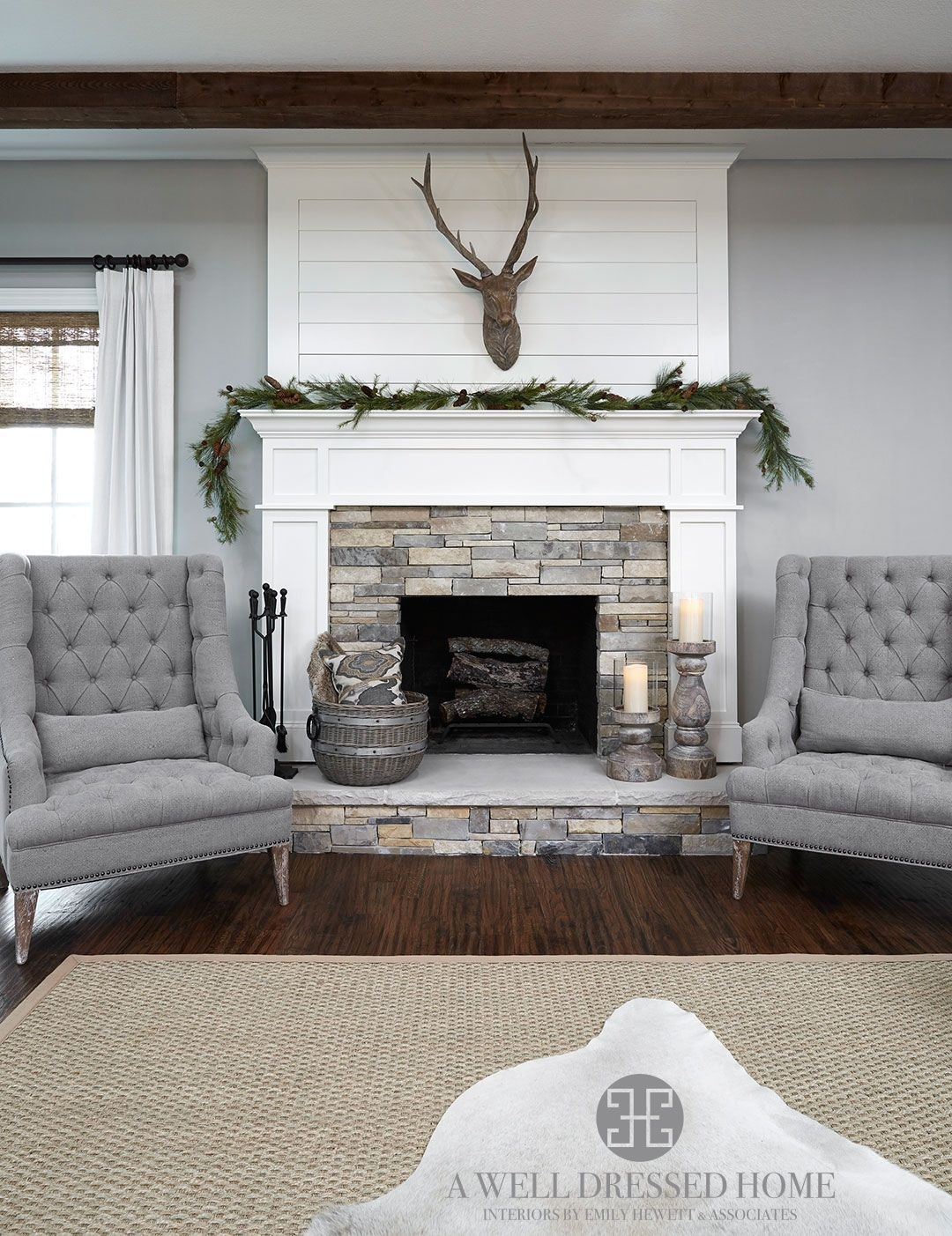 Aledo Project – Tv Room @ A Well Dressed Home – Shiplap Fireplace Regarding Current Wall Accents Over Fireplace (View 4 of 15)