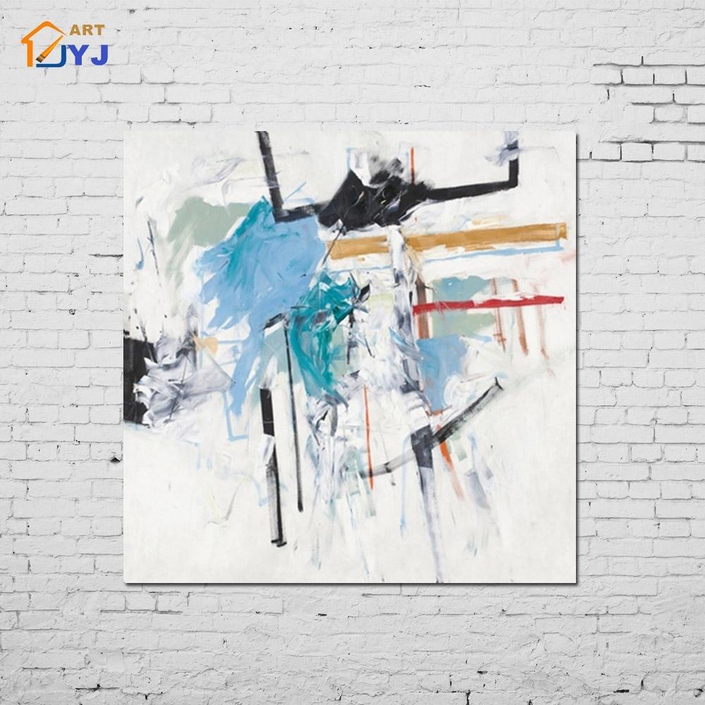 Aliexpress : Buy Light Blue Swan Dance Canvas Wall Art Hand Inside Latest Dance Canvas Wall Art (View 4 of 15)