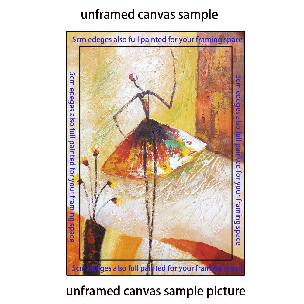 Aliexpress : Buy Light Blue Swan Dance Canvas Wall Art Hand Regarding Newest Dance Canvas Wall Art (View 5 of 15)