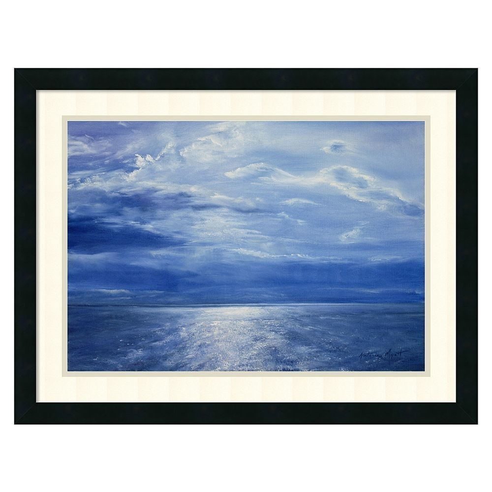 Amanti Art ''deep Blue Sea | Deep Blue Sea, Deep Blue And Framed Pertaining To Latest Black Framed Art Prints (View 3 of 15)