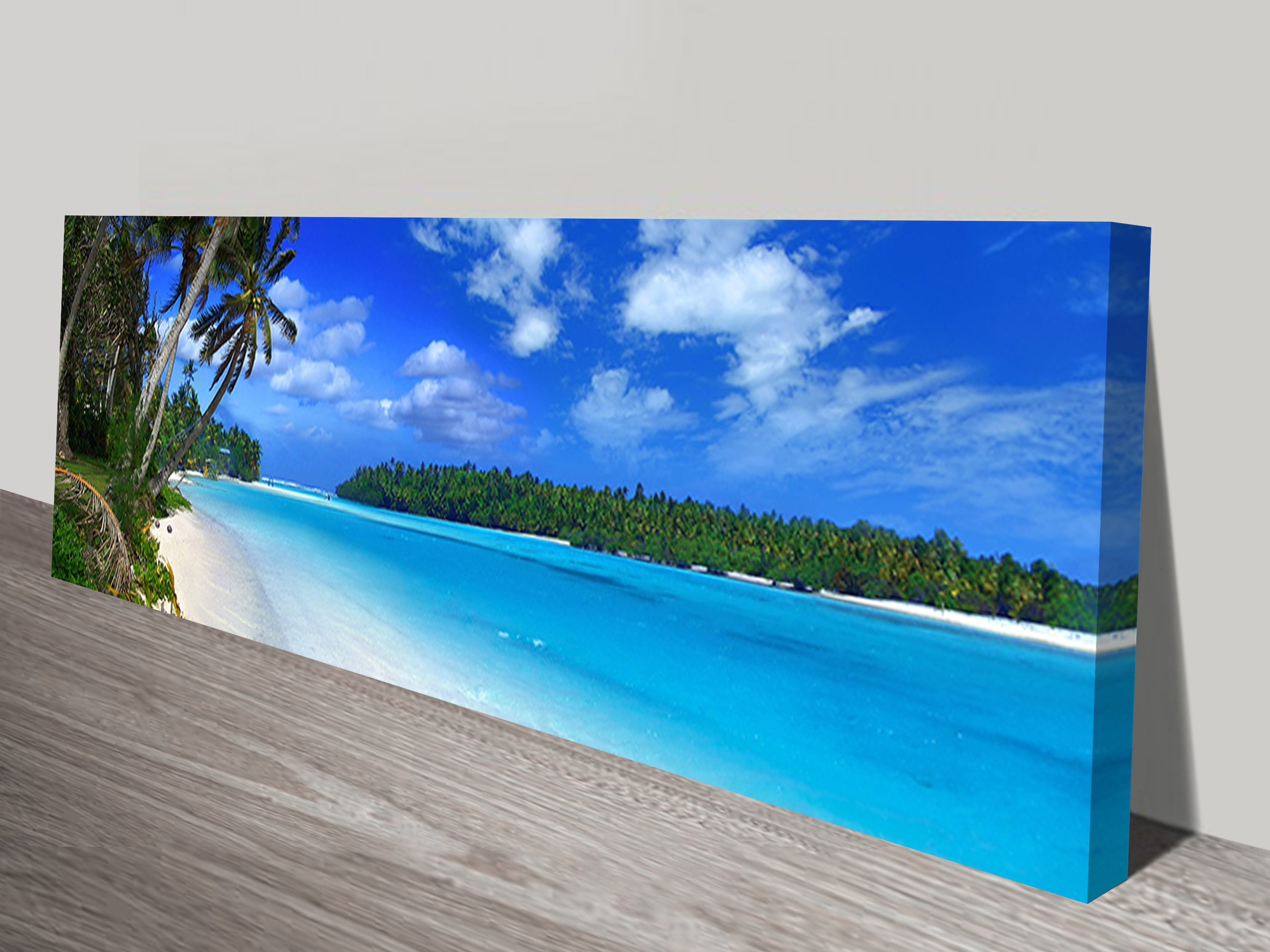 Amazing Beach Long Canvas Wall Art Panoramic Print Intended For Most Recent Beach Canvas Wall Art (View 4 of 15)