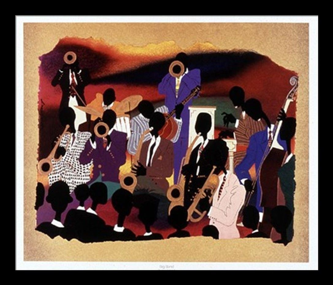 """Amazon: """"big Band"""" Leroy Campbell, Premier Quality Framed For Most Up To Date Framed African American Art Prints (View 1 of 15)"""