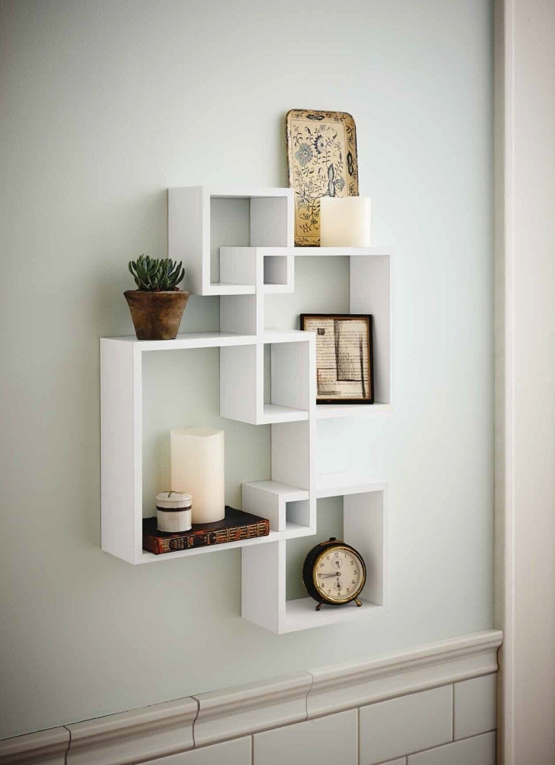 Amazon – Generic Intersecting Squares Wall Shelf – Decorative In Recent Amazon Wall Accents (View 1 of 15)