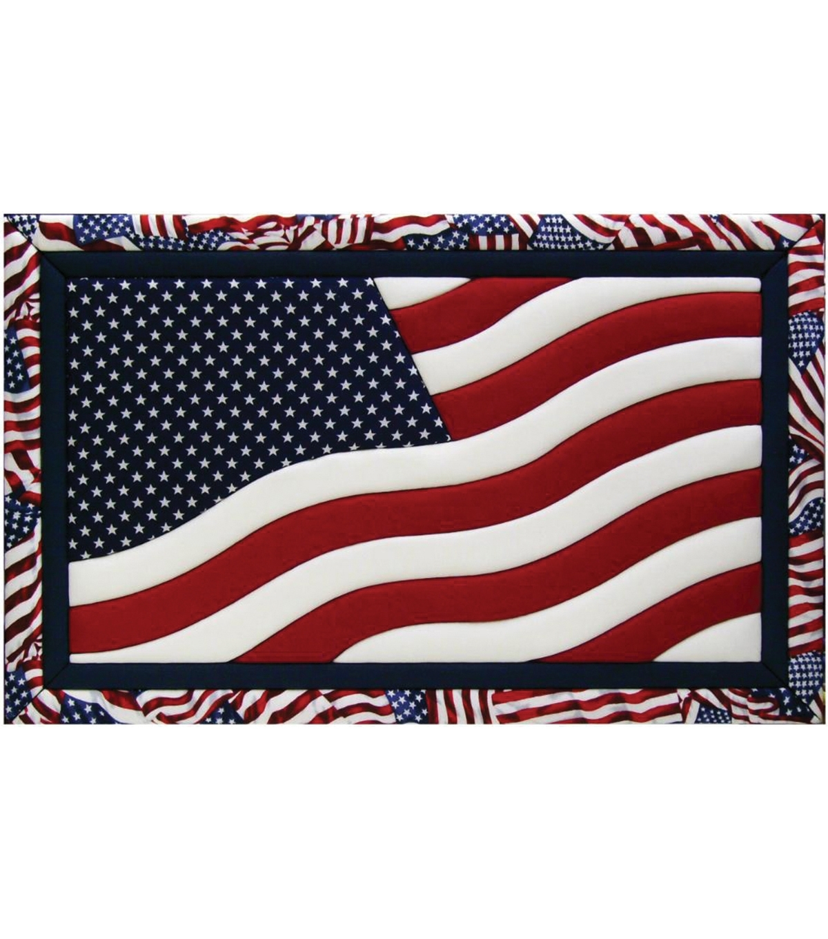 "American Flag Quilt Magic Kit 12""x19"" 