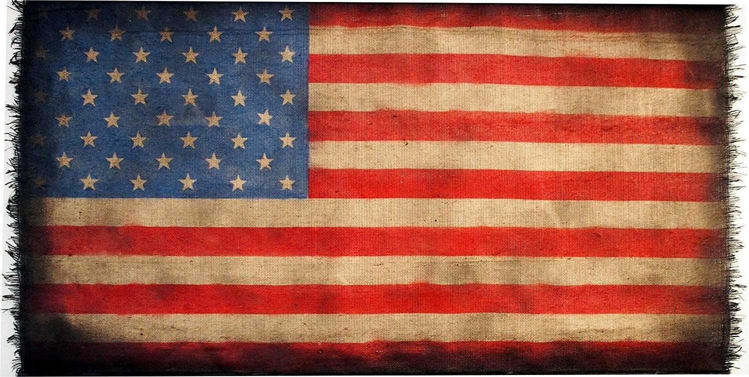 Featured Photo of American Flag Fabric Wall Art
