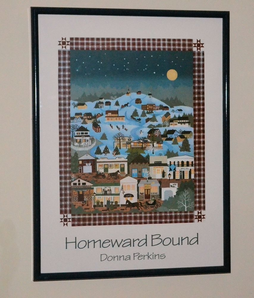 "American Folk Artdonna Perkins ""homeward Bound"" 19"" X 25 With Current American Folk Art Framed Prints (View 6 of 15)"