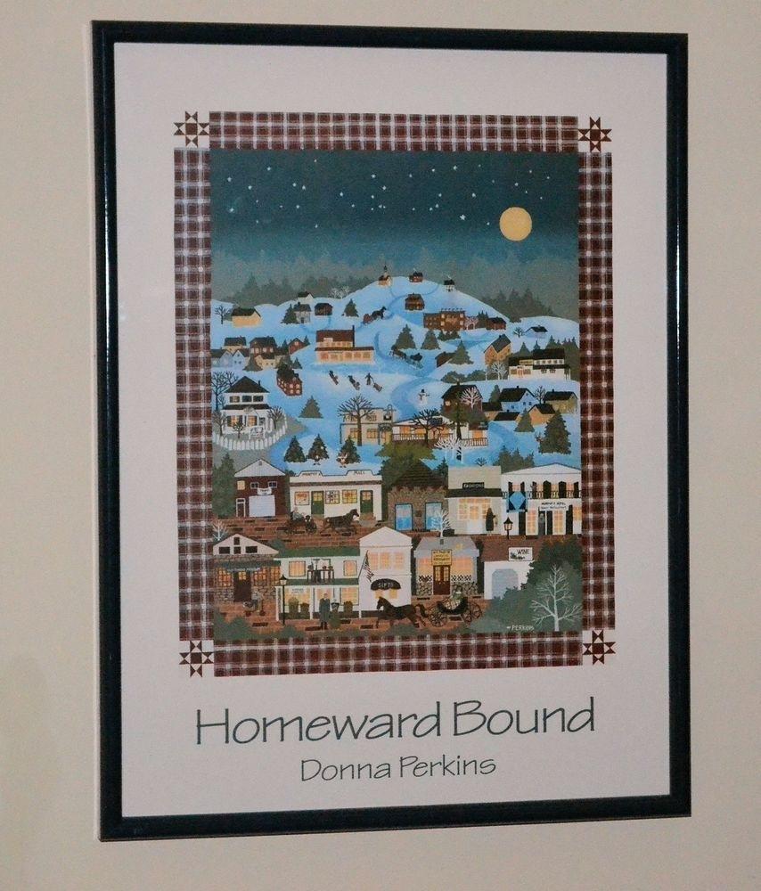 "American Folk Artdonna Perkins ""homeward Bound"" 19"" X 25 With Current American Folk Art Framed Prints (View 6 of 15)"