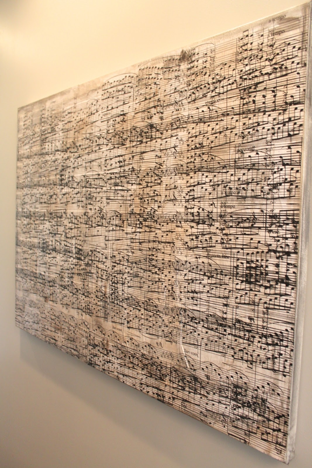 Amy's Casablanca: Diy Sheet Music Artwork For 2017 Music Canvas Wall Art (View 7 of 15)