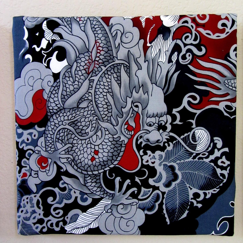 Ancient Japanese Dragon Art | Tattoo | Pinterest | Japanese Dragon Inside Most Current Japanese Fabric Wall Art (View 2 of 15)