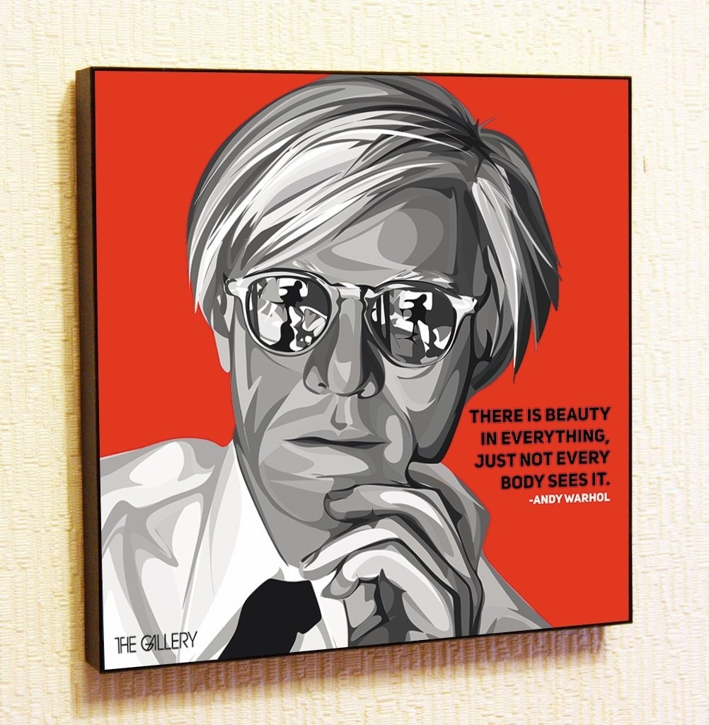 Andy Warhol Decor Motivational Quotes Wall Decals Pop Art Gifts With 2018 Famous Art Framed Prints (View 11 of 15)