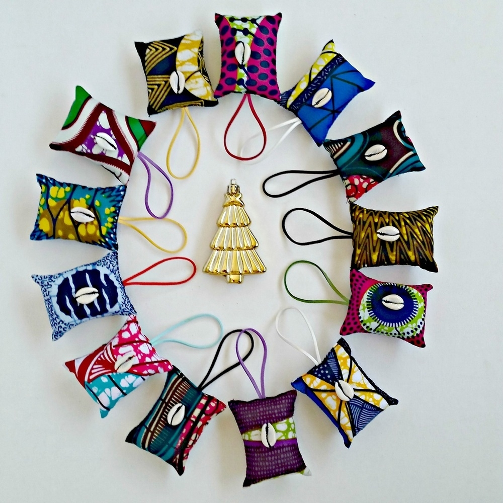 Ankara/african Dutch Wax Holiday Ornaments! Shop Reflektiondesign Within Best And Newest Ankara Fabric Wall Art (View 8 of 15)