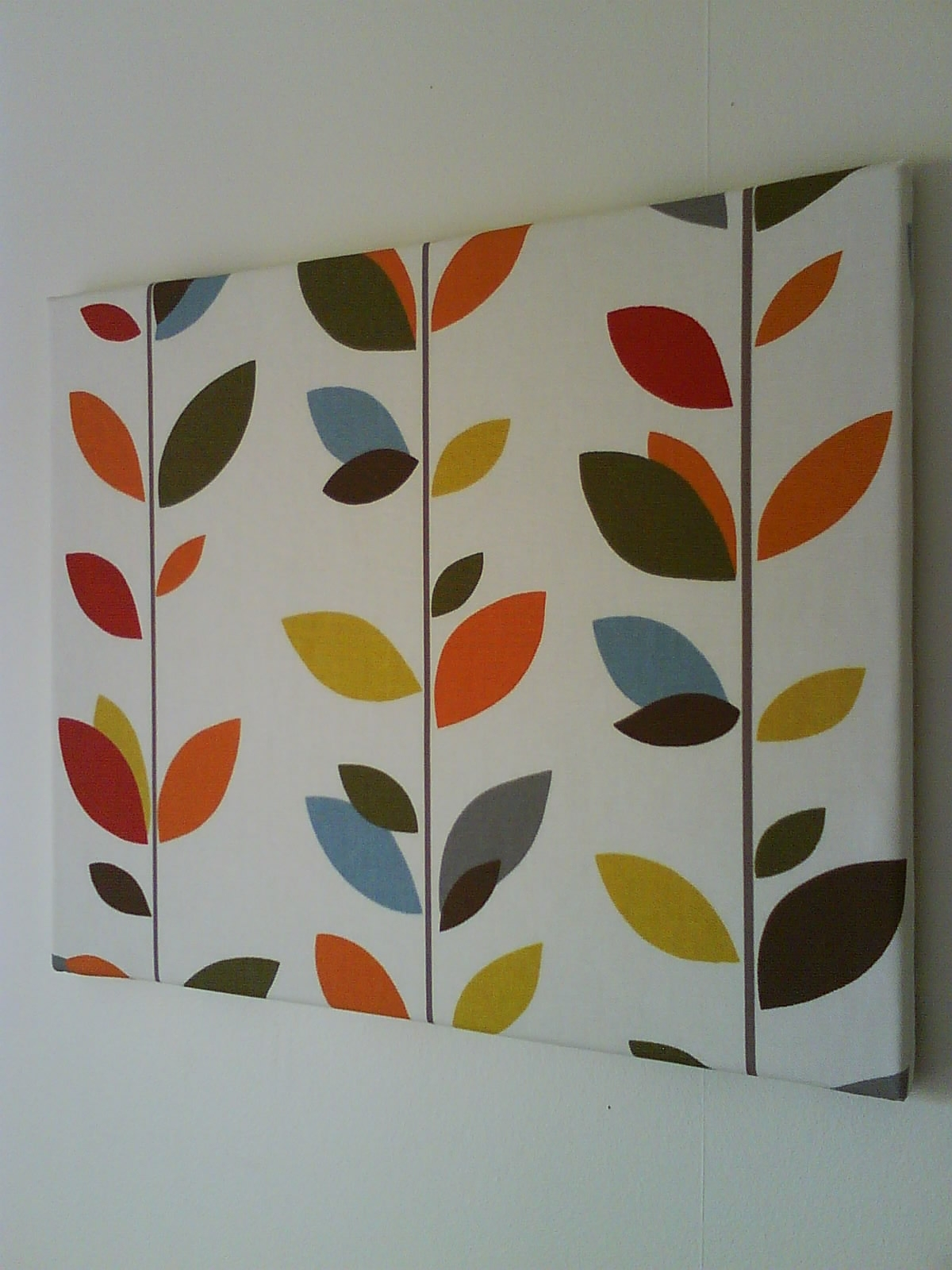 Anminternational: Colourful Multi Stem Fabric Canvas Wall Art Inside Most Up To Date Fabric For Canvas Wall Art (View 11 of 15)