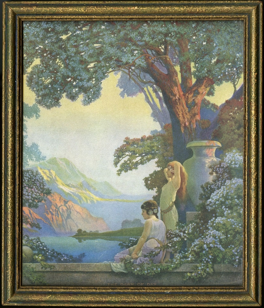 Antique Art Deco Framed Art Print Fantasy Maidens In The Dawn Of With Regard To Most Popular Antique Framed Art Prints (View 2 of 15)