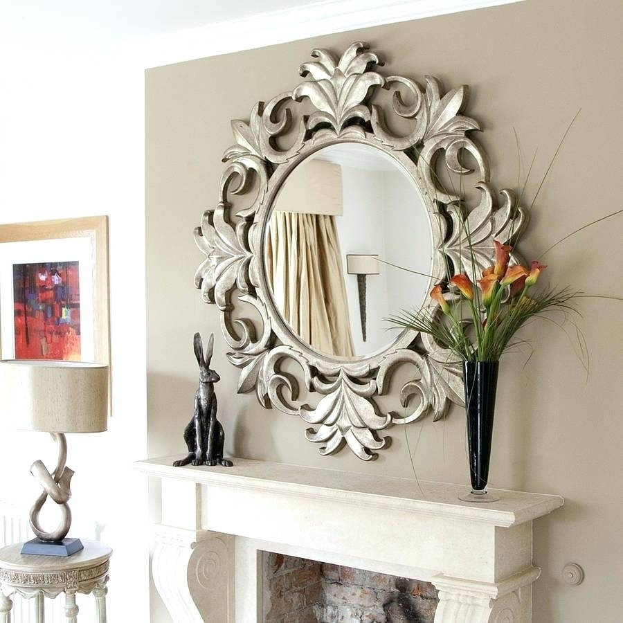 Antique Mirror Walls Round Wall Decorative Mirrors Framed Ideas Regarding Most Current Mirrors Wall Accents (View 3 of 15)