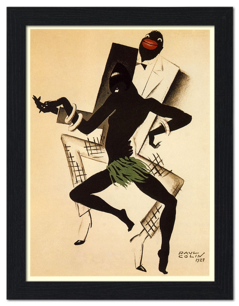 Ap Frame 978 – Bal Negre, Jazz Art Deco Poster, Artist: Paul Colin Pertaining To Recent Framed Art Deco Prints (View 4 of 15)