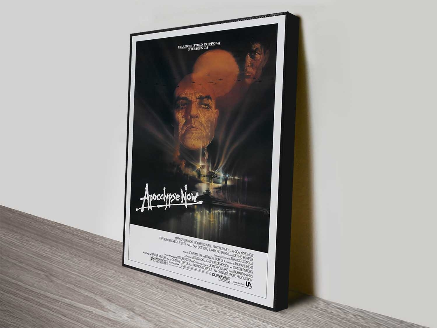 Apocalypse Now Movie Poster Print On Canvas Geelong Australia With Regard To Recent Geelong Canvas Wall Art (View 12 of 15)