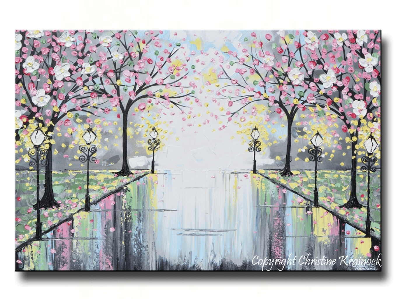Appealing Tree Canvas Wall Art Together With Parade Of Red Trees Pertaining To 2018 Jcpenney Canvas Wall Art (View 2 of 15)