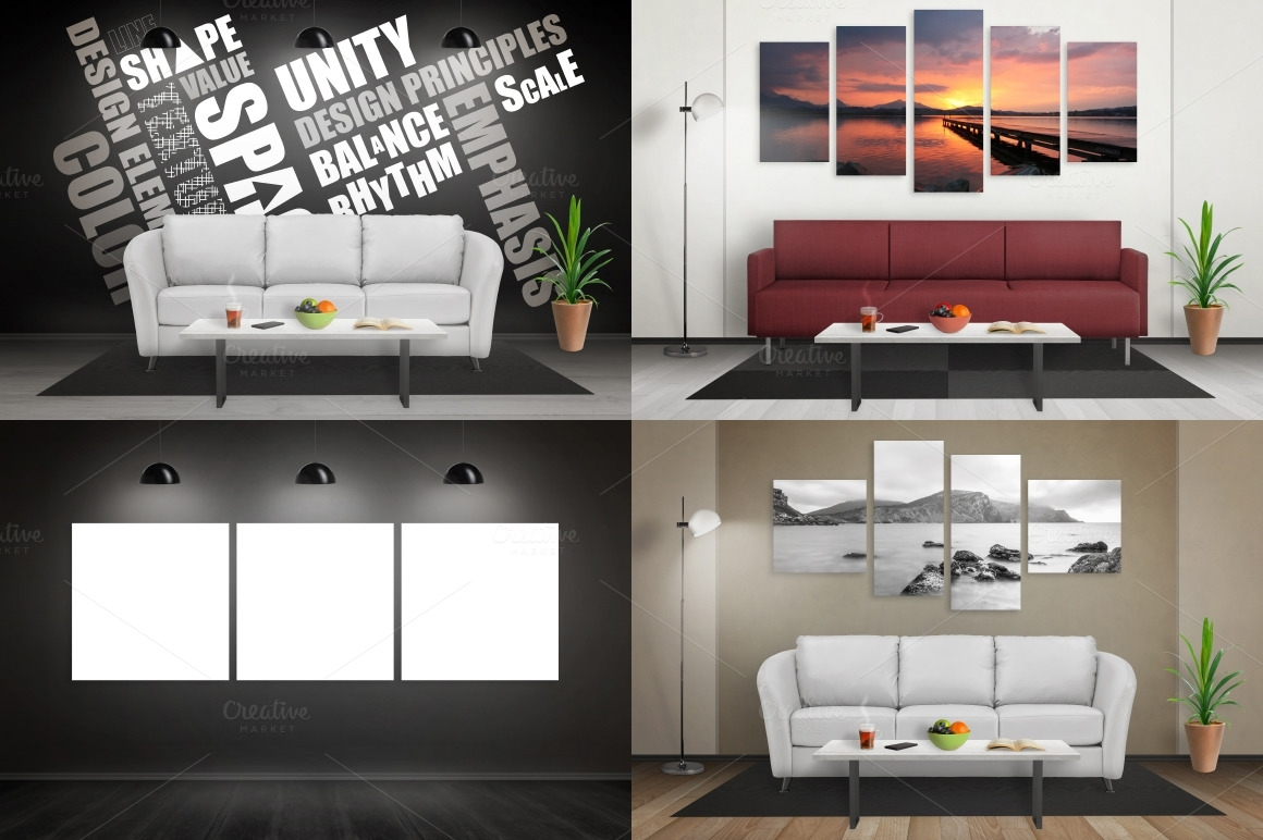 Art Canvas Mockup Scene Creator – Rsplaneta – Graphic Design Inside Most Recent Mockup Canvas Wall Art (View 9 of 15)