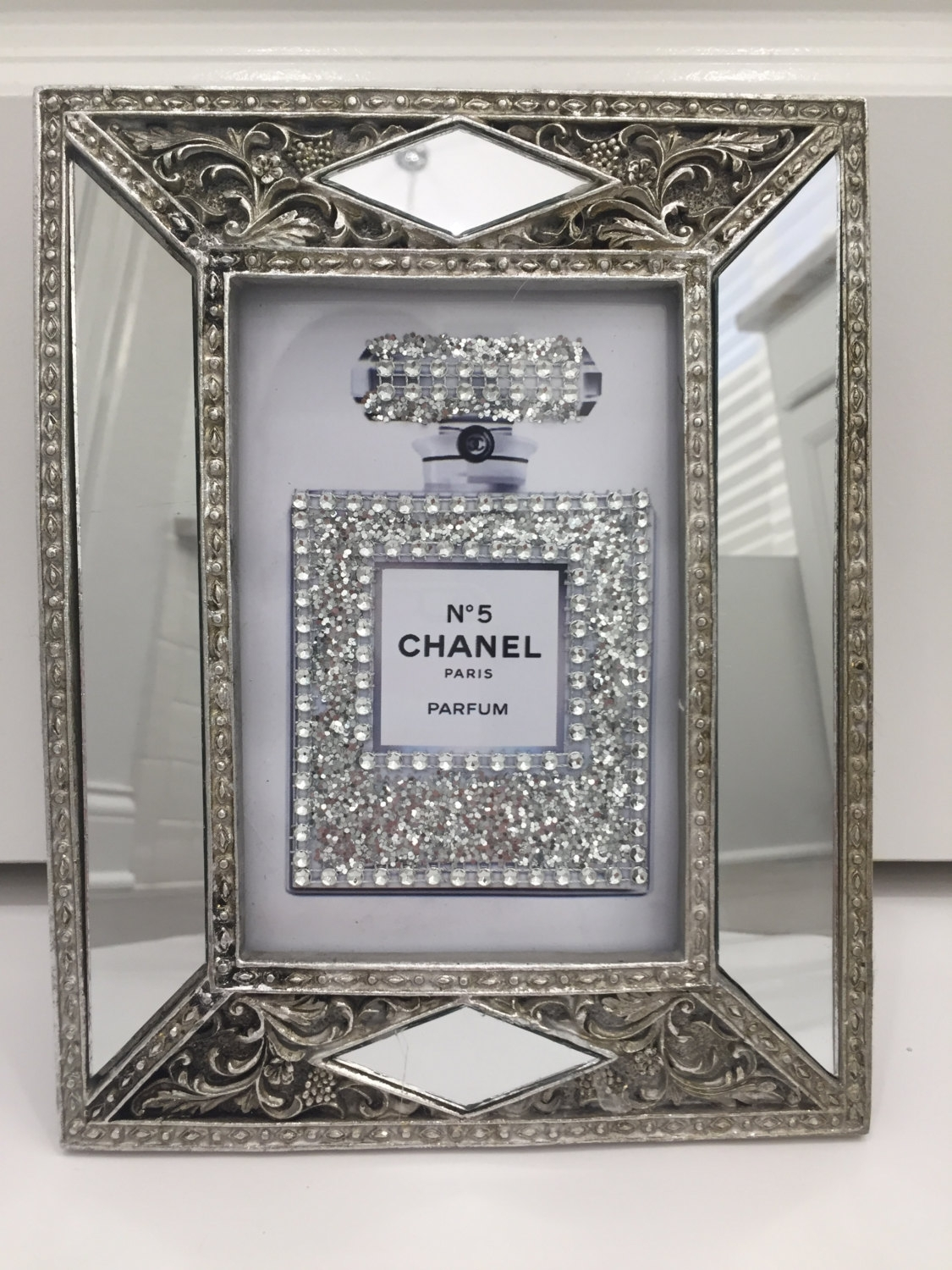 Art Deco Style Glass Framed Chanel No (View 6 of 15)