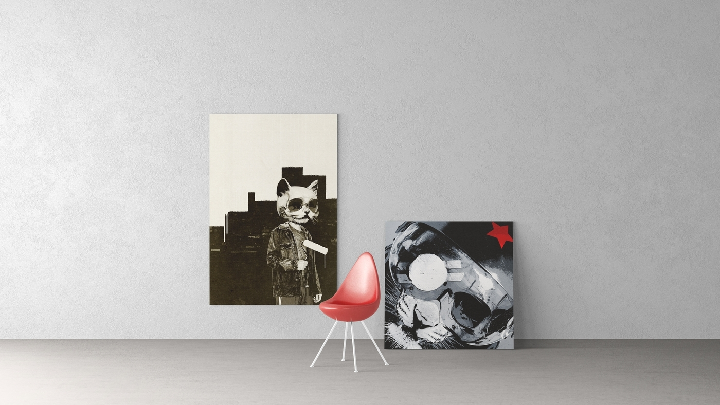 Art On Walls Mockup – Canvas Mockups – Frame Mockups – Wall In Most Recently Released Mockup Canvas Wall Art (View 3 of 15)