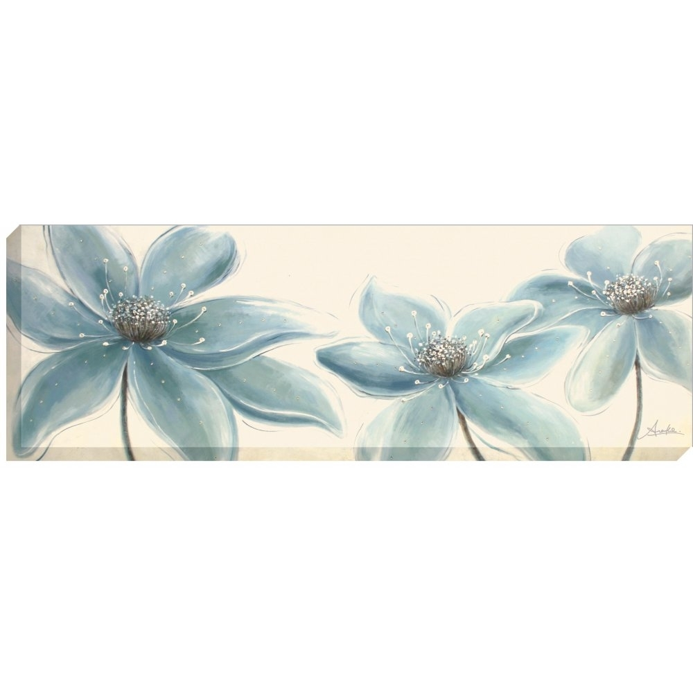 Artko Flower Panel Duck Egg Blue – Canvas Wrap | Art To Do Inside Latest Duck Egg Blue Canvas Wall Art (View 1 of 15)