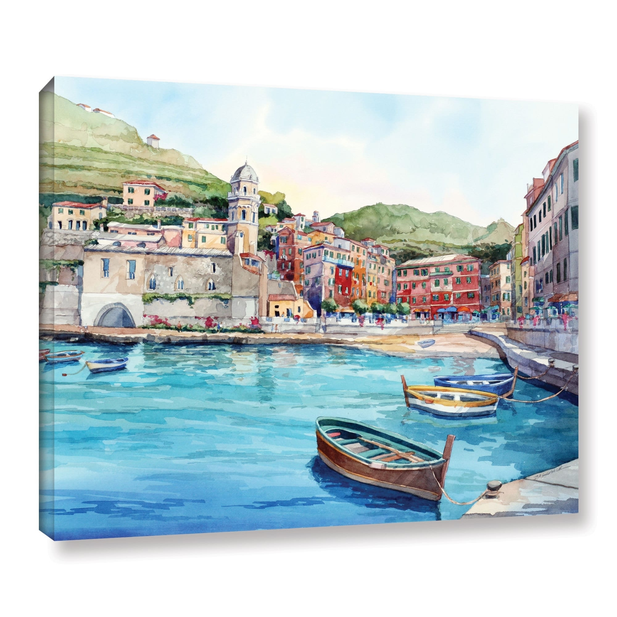 Artwall Bill Drysdale ' Vernazza ' Gallery Wrapped Canvas – Free Within Most Up To Date Joval Canvas Wall Art (View 2 of 15)