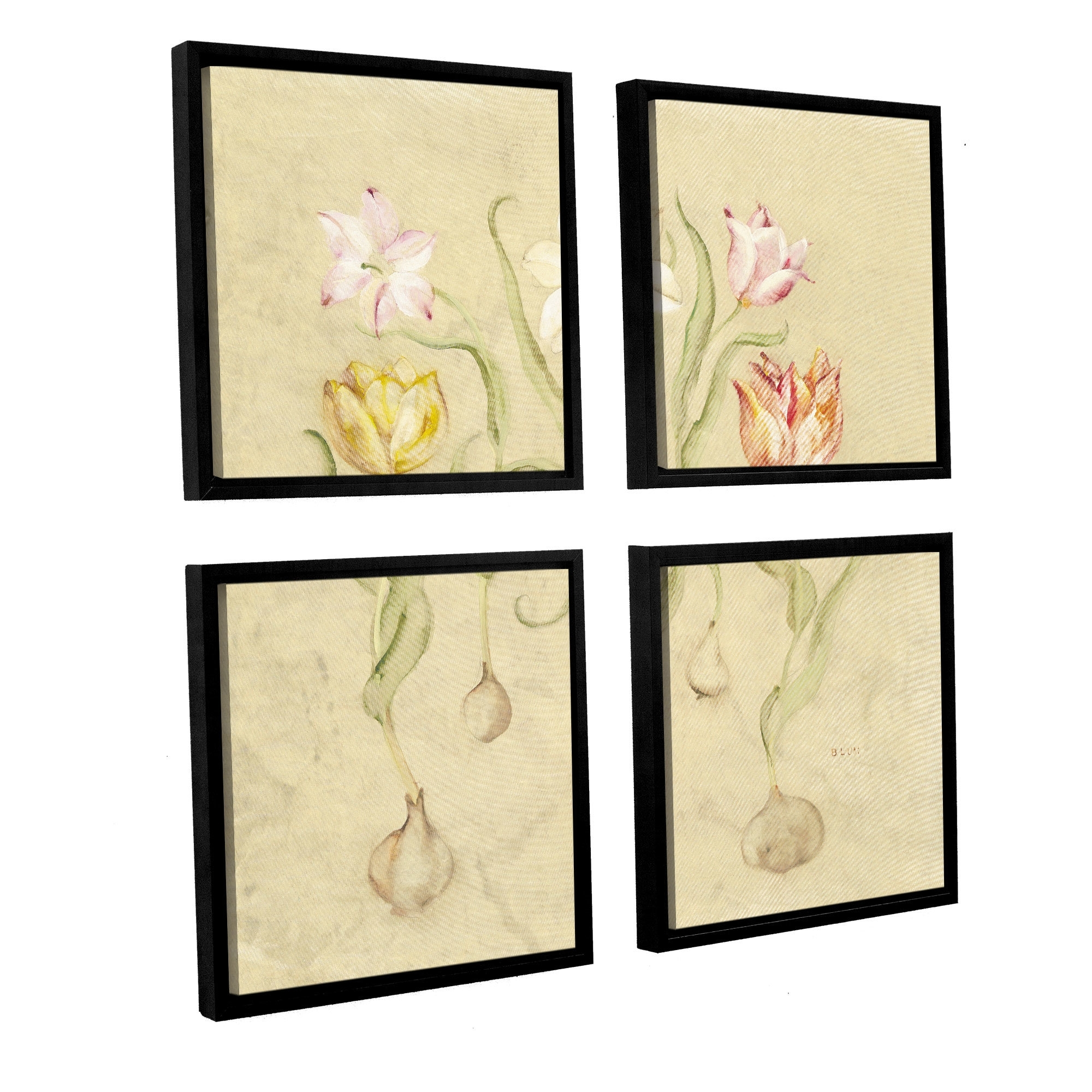 Artwall 'dancing Bulbs I'cheri Blum 4 Piece Framed Pertaining To 2018 Cheri Blum Framed Art Prints (View 5 of 15)