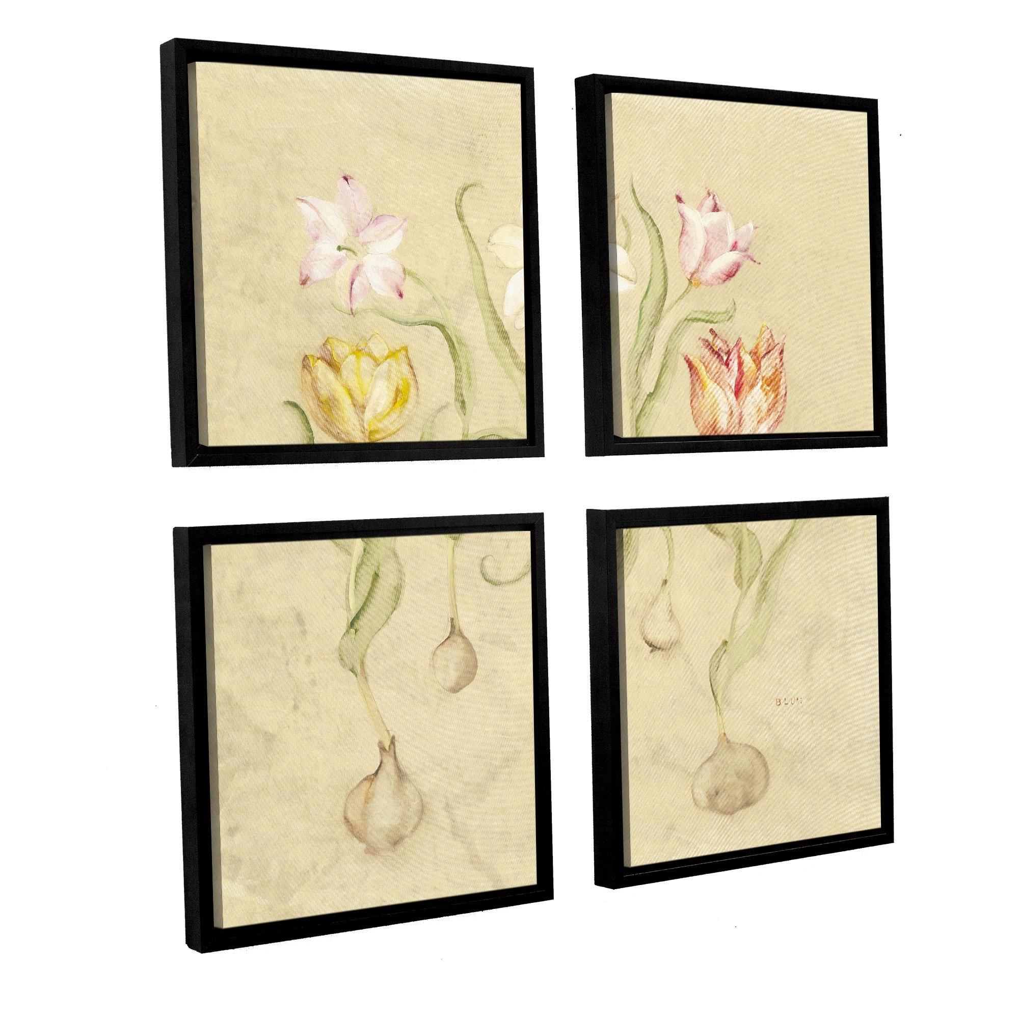 Artwall 'dancing Bulbs I'cheri Blum 4 Piece Framed Pertaining To 2018 Cheri Blum Framed Art Prints (View 7 of 15)