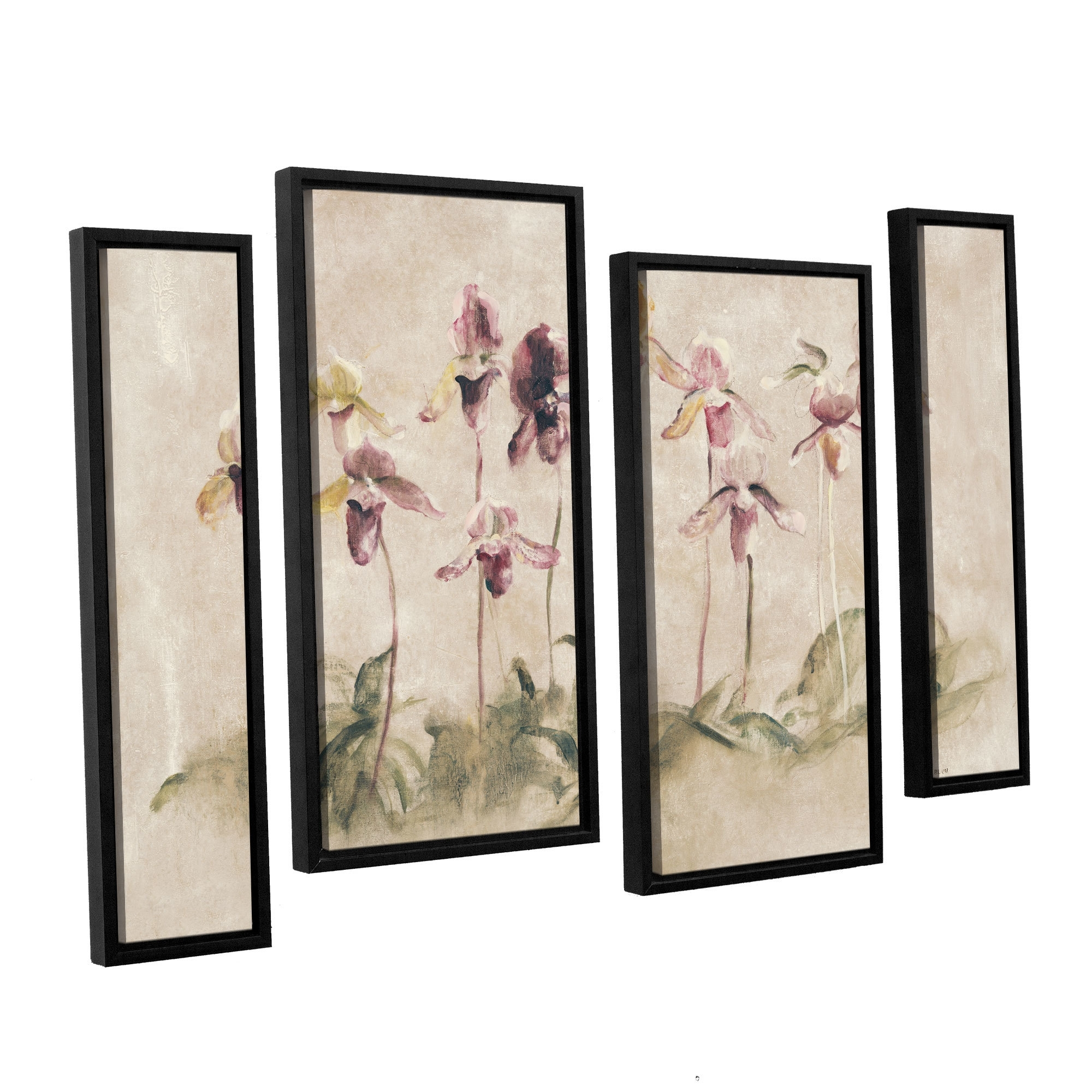 Artwall 'purple Dancing Orchids'cheri Blum 4 Piece Framed With Recent Cheri Blum Framed Art Prints (View 8 of 15)