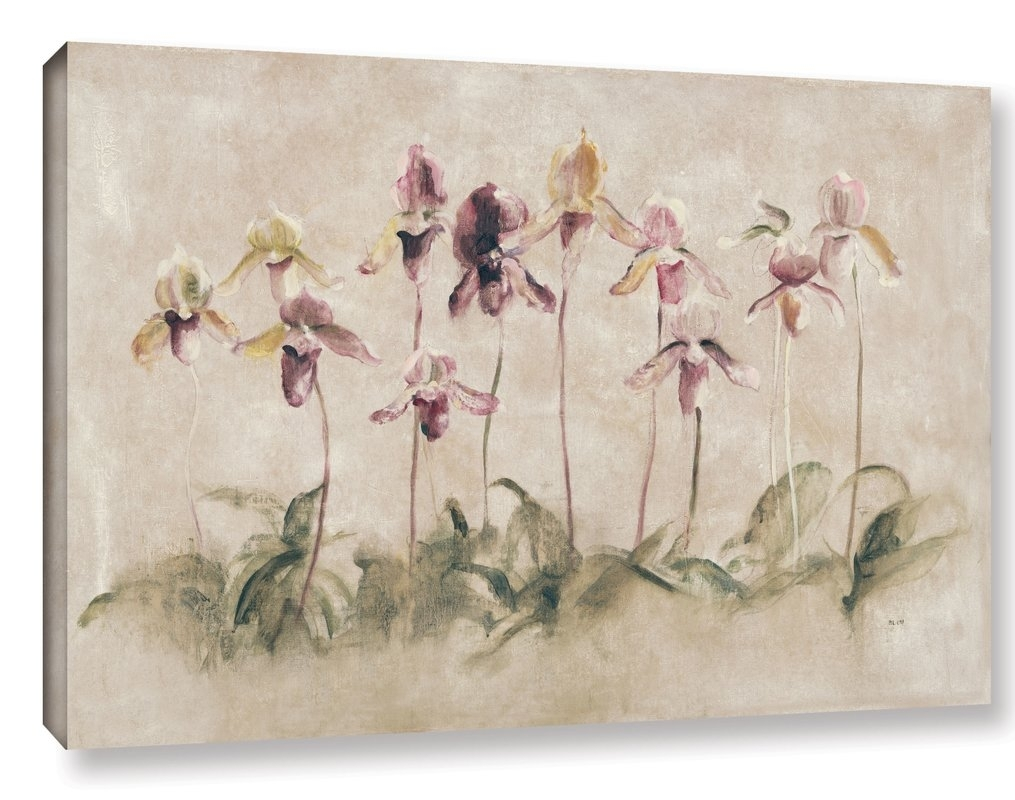 Artwall 'purple Dancing Orchids'cheri Blum Painting Print On With 2017 Cheri Blum Framed Art Prints (View 4 of 15)