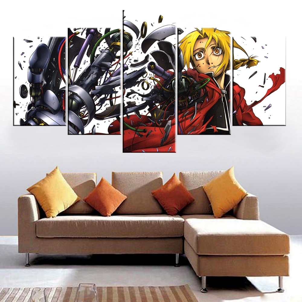 Atfipan Modular Paintings On The Wall Animation Posters Fullmetal Regarding Most Recently Released House Of Fraser Canvas Wall Art (Gallery 5 of 15)