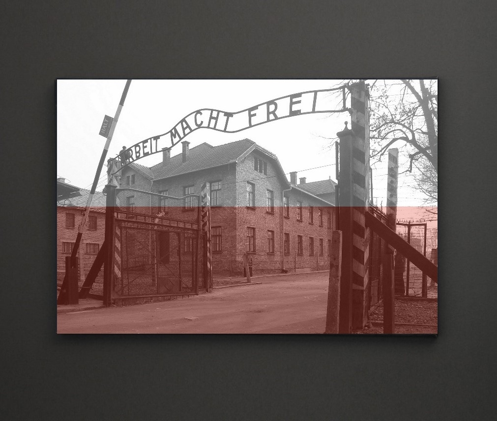 Auschwitz Poland Flag A4 Framed/box Canvas A4 A3 A2 A1 Gift Ideas In 2018 Leadgate Canvas Wall Art (View 5 of 15)