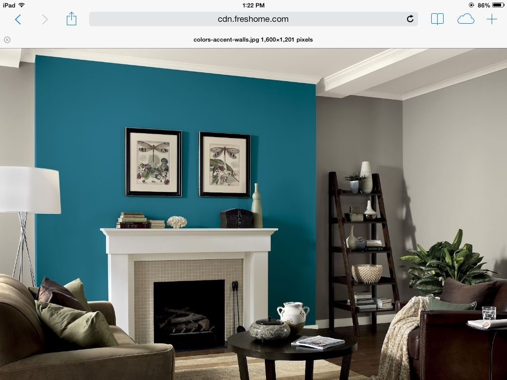 Awesome Accent Wall Ideas For Bedroom, Living Room, Bathroom And With Most Popular Gray Wall Accents (View 4 of 15)