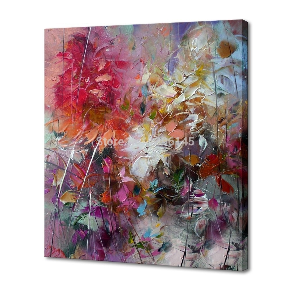 Ba Oil Painting Big Size 100% Hand Painted Oil Painting Abstract Intended For 2017 Hand Painted Canvas Wall Art (View 4 of 15)