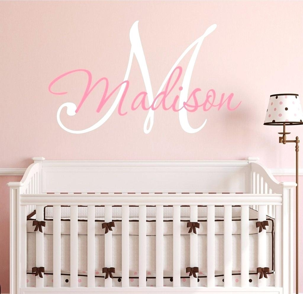 Baby Girl Name Wall Decals Wall Art Stickers And Decals Star Name Throughout Newest Fabric Name Wall Art (View 1 of 15)