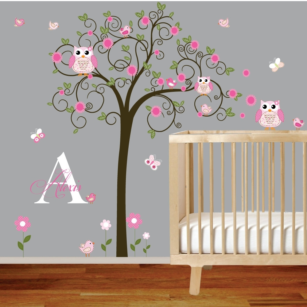 Baby Girl Room Wall Decals Awesome Wall Decals For Baby Girl Inside Latest Baby Nursery Fabric Wall Art (View 1 of 15)