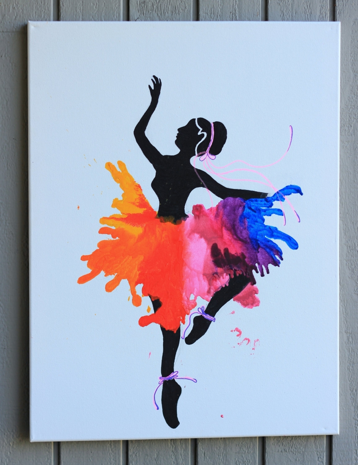 Ballerina Wall Art Ballet Dancer Large Canvas Inspirational Throughout Newest Dance