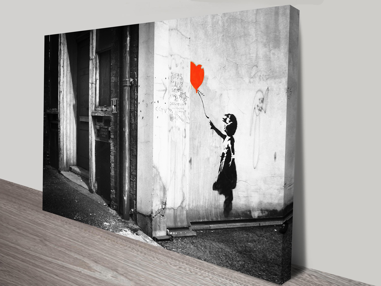 Balloon Girl Black & White #banksy #canvasprints Regarding Most Popular Girl Canvas Wall Art (View 6 of 15)