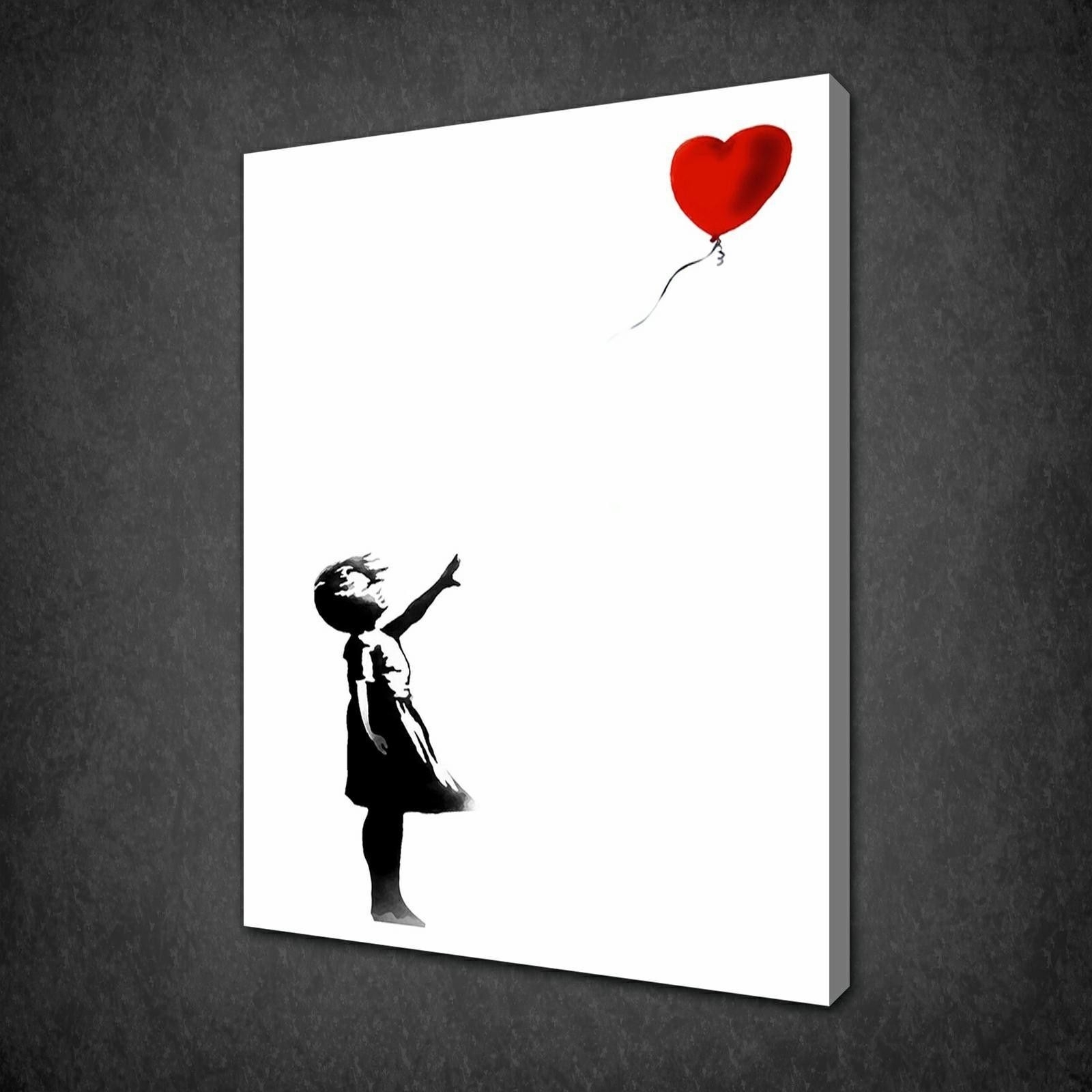 Banksy Archives – Canvas Print Art For Most Current Girl Canvas Wall Art (View 2 of 15)