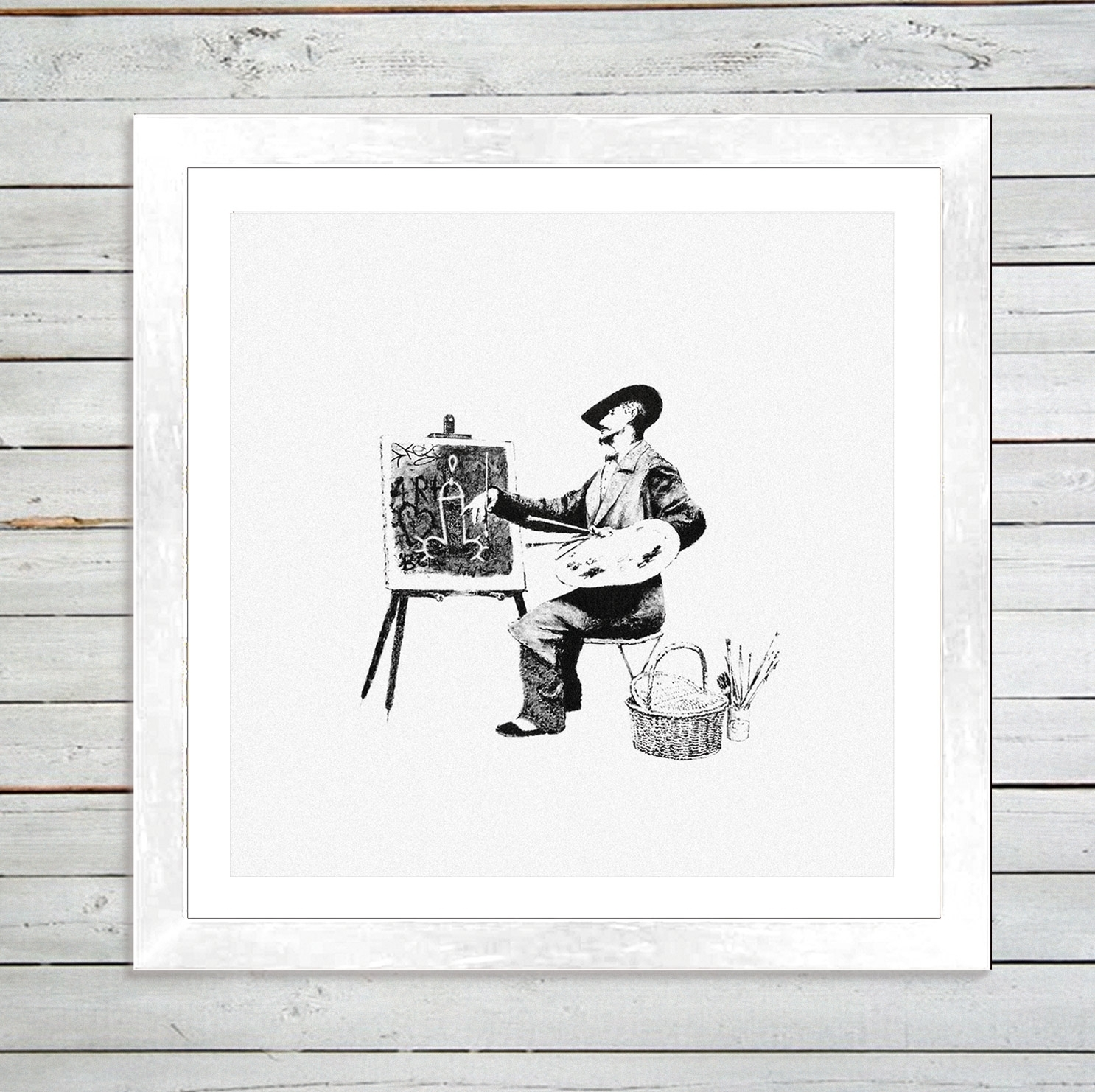"Banksy ""classic Artistry"" Framed Art Print – Graff (View 3 of 15)"