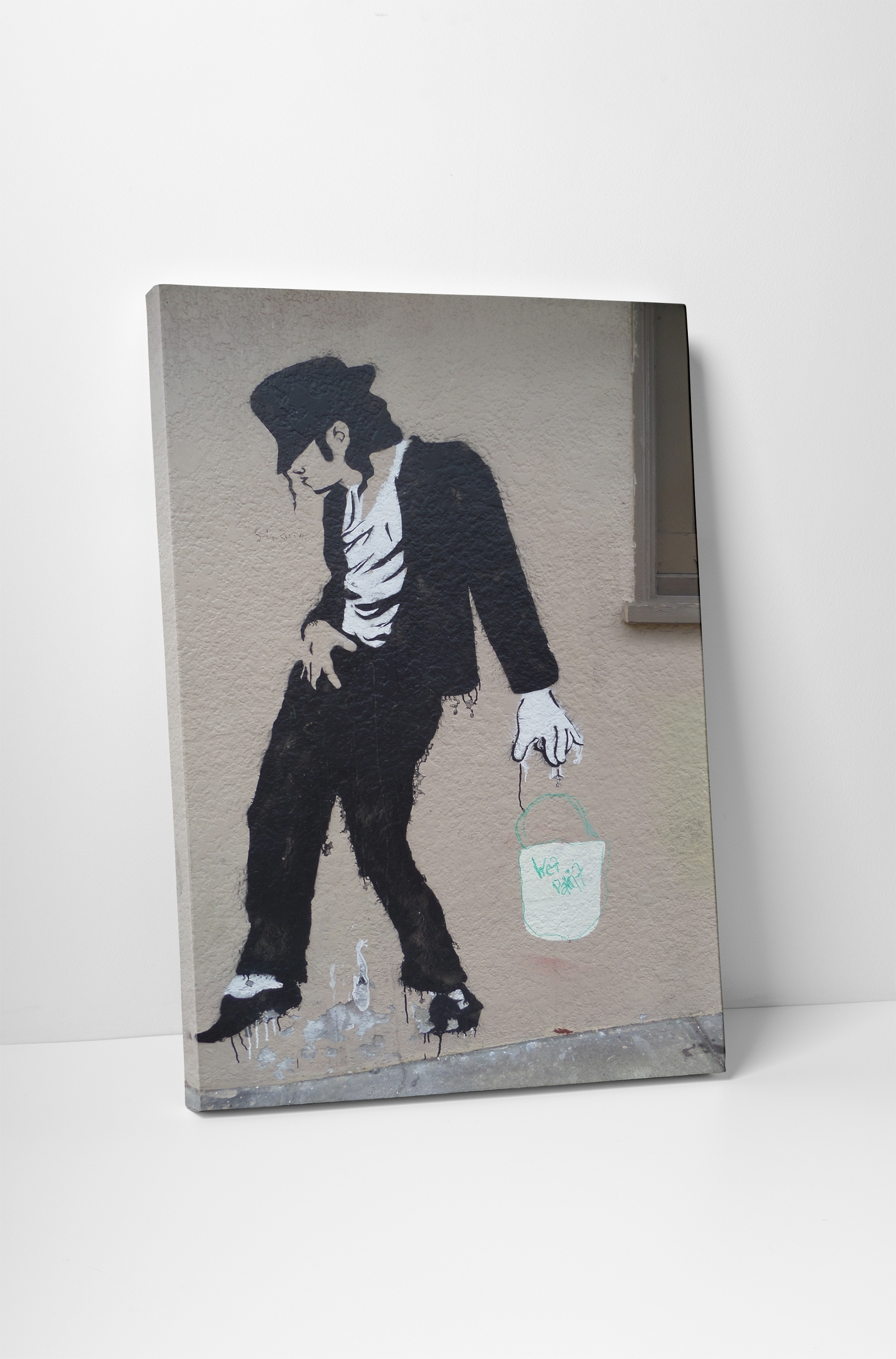 Banksy Michael Jackson Canvas Wall Art Throughout Recent Michael Jackson Canvas Wall Art (View 3 of 15)