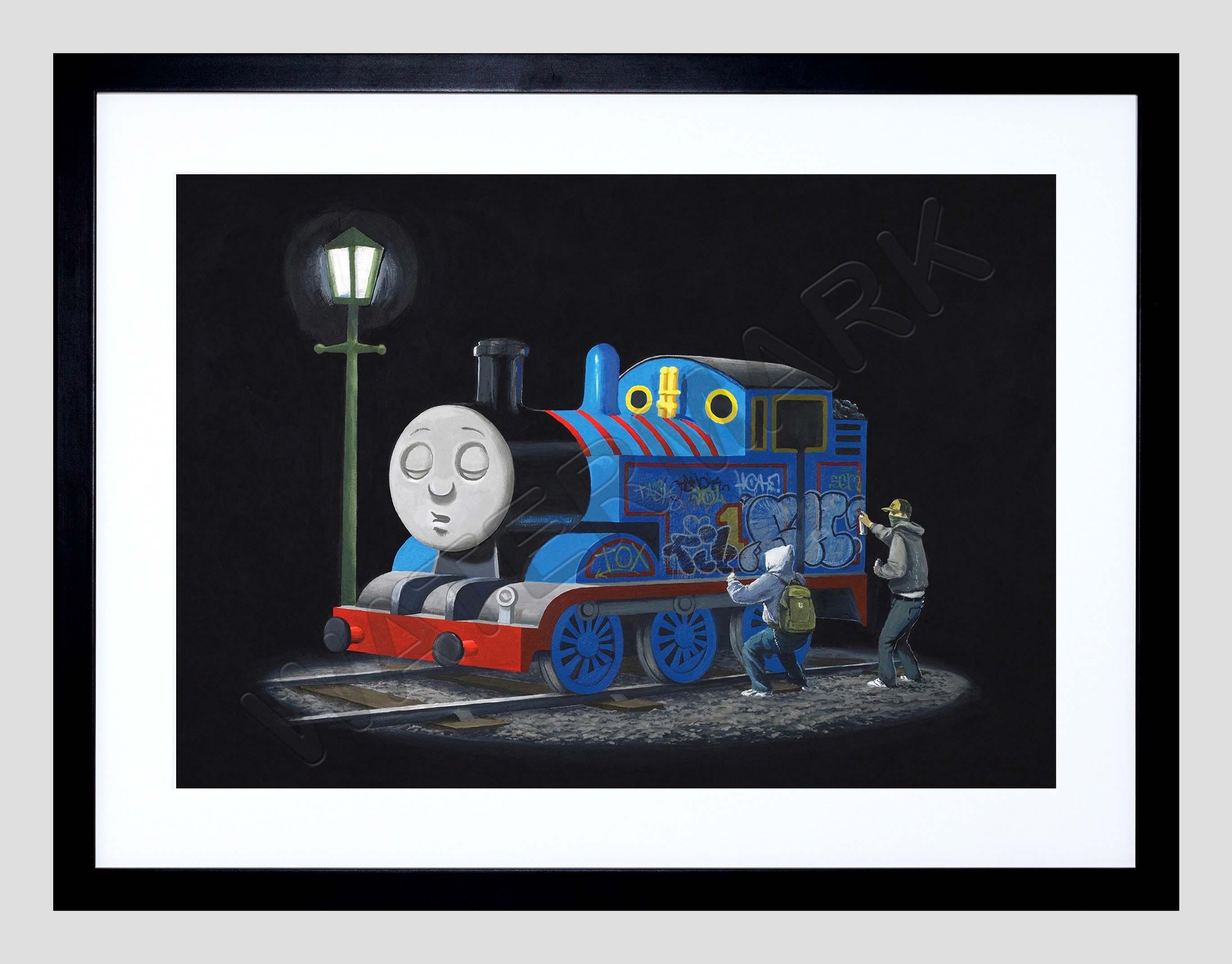 Banksy Thomas Tank Engine Graffiti Street Art 12x16'' Framed Art Regarding Current European Framed Art Prints (View 15 of 15)