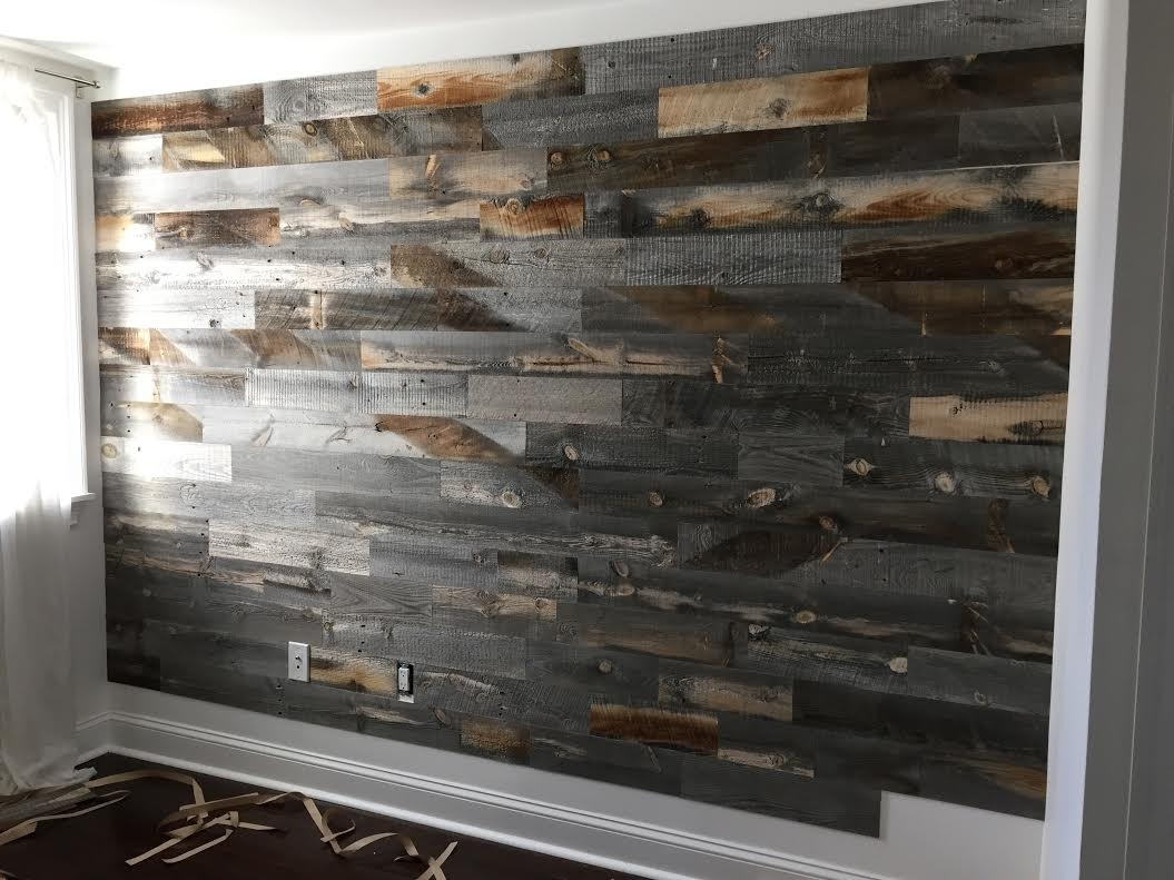 Barn Wood Wall Ideas Reclaimed Wood Accent Wall Ideas Decor In 2017 Reclaimed Wood Wall Accents (View 2 of 15)